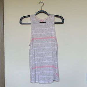 sz 4 lululemon oatmeal and pink all tied up tank